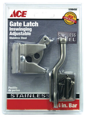 Ace Adjustable Gate Latch Corrosion Resistant Stainless Steel ACQ Lumber Compatible