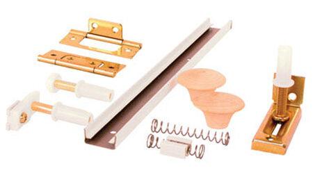 Prime-Line Surface mount Hardware Kit White 1 pk