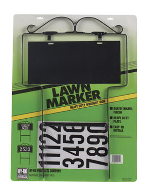 Hy-Ko Steel Address Kit Black