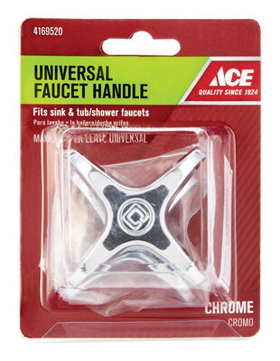 Ace Cross Vise Grip Chrome Hot and Cold Universal Faucet Handle