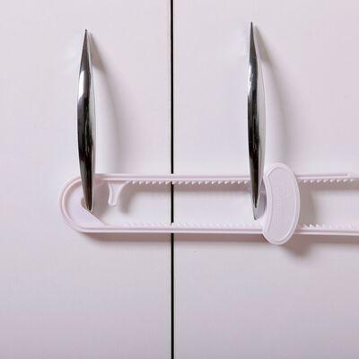 Dreambaby White Plastic Cabinet Slide Locks 2 pk 11.6 in. H x 3.8 in. W