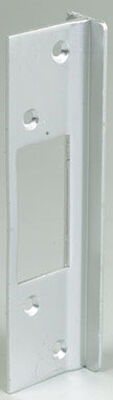 Mag Security Door Lock Guards 8.4 in. x 3.8 in. x 0.9 in. Aluminum For Doors that Open Out 1/Carded
