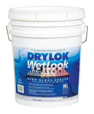 Drylok WetLook Low VOC Concrete And Masonry Sealer Clear 5 gal.