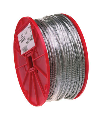 Campbell Chain Galvanized Steel Aircraft Cable 1/8 in. Dia. x 500 ft. L