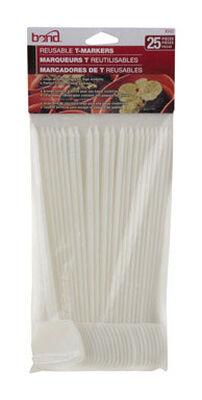 Bond Manufacturing White Plastic Plant Label/Marker 7 in. L