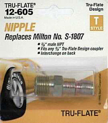 Tru-Flate Steel Air Plug 3/8 in. MNPT Male T