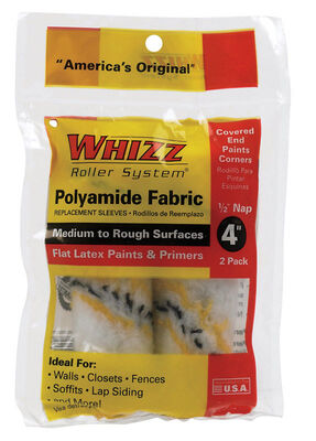 Whizz Polyamide Fabric Paint Roller Cover 1/2 in. L x 4 in. W 2 pk
