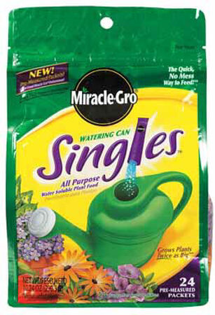 Miracle-Gro Watering Can Singles Plant Food For Flowers Vegetables 24 oz.