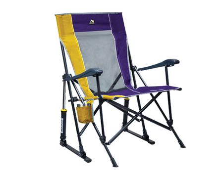 GCI Outdoor RoadTrip Rocker Chair Purple/Yellow