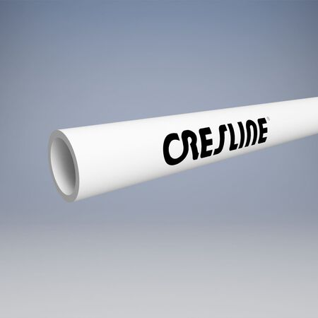 Cresline PVC DWV Pipe 6 in. Dia. x 10 ft. L Plain End Schedule 40 220 psi