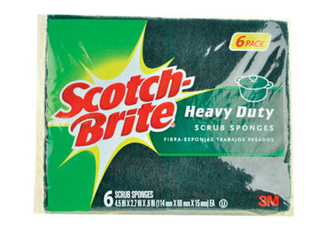 Scotch-Brite Heavy Duty Scrub Sponge 4.5 in. L 6 pk