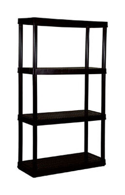 Maxit 54-1/2 in. H x 32 in. W x 14 in. D Black Plastic Solid Plastic Shelving 400