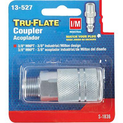 Tru-Flate Steel Quick Change Coupler 3/8 in. MNPT Male I/M