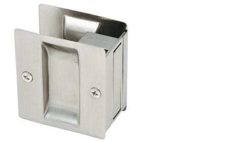 Satin Nickel Pocket Door Lock Passage Hardware