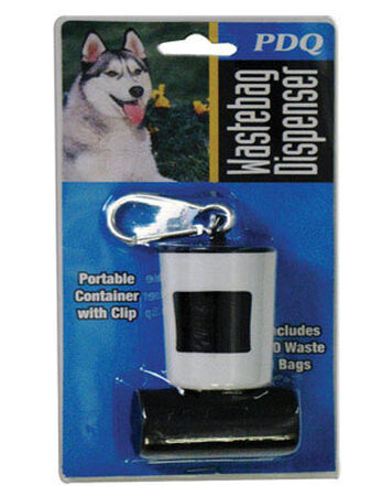 PDQ For Dog Dog Waste Bag Dispenser White