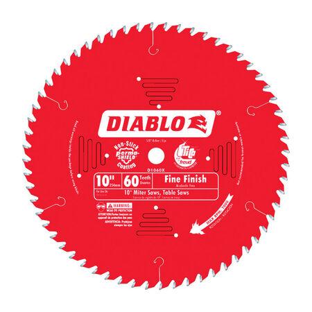 Freud Diablo 10 in. Dia. 60 teeth Carbide Tip Circular Saw Blade For Cutting Wood