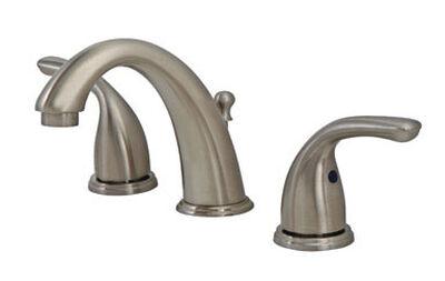 OakBrook Coastal Widespread Lavatory Pop-Up Faucet 6in. - 12 in. Brushed Nickel