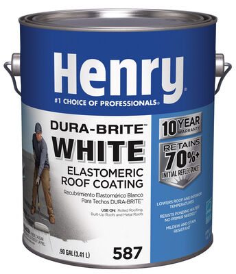 Henry Dura-Bright Water Based Roof Coating .90 gal. White