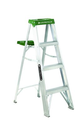 4 ft Louisville AS4004 Aluminum Step Ladder, Type II, 225 lb Load Capacity