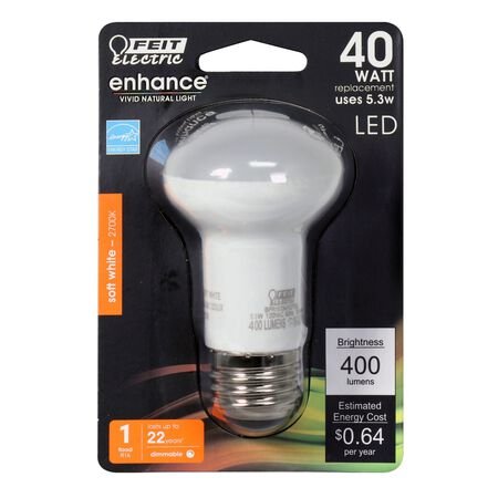 FEIT Electric 6.5 watts 400 lumens 2700 K Medium Base (E26) R16 Reflector 40 watts equivalency S