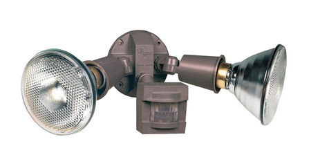 Heath Zenith Floodlight Plastic Bronze Motion-Sensing Incandescent 120 volts 300 watts
