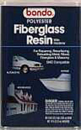 Bondo Fiberglass Resin Filler 1 gal. For Metal Wood Masonry & Fiberglass