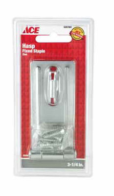 Ace Zinc Fixed Staple Safety Hasp 3-1/4 in. L