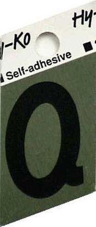 Hy-Ko Self-Adhesive Black 1-1/2 in. Aluminum Letter Q