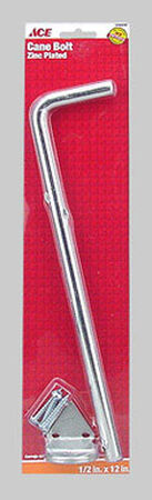 Ace Cane Bolt 12 in. x 1/2 in. Large For Double Doors on Utility Buildings or Large Gates Zinc Zinc