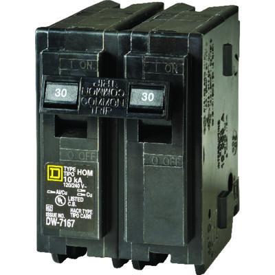 Square D HomeLine Double Pole 30 amps Circuit Breaker