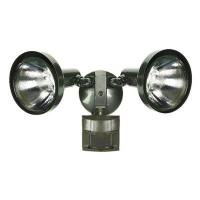 Heath Zenith Floodlight Metal Bronze Motion-Sensing PAR 38 120 volts 300 watts