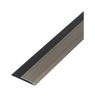 M-D Building Products Door Sweep Aluminum/Vinyl 3 ft. L x 3/8 in. Weather Stripping Silver