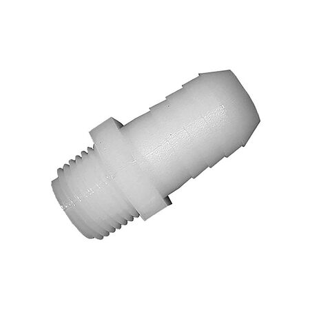 Green Leaf Nylon Adapter 1/8 in. Dia. x 1/4 in. Dia. White 1 pk