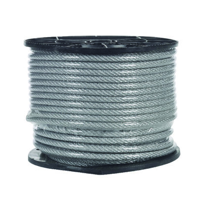 Campbell Chain Galvanized Steel Aircraft Cable 1/4 in. Dia. x 200 ft. L