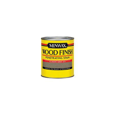 Minwax Wood Finish Semi-Transparent Classic Gray Oil-Based Oil Wood Stain 0.5 pt.