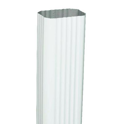 Amerimax 10 ft. L x 3 in. W x 2 in. H x 10 L x 2 in. W x 3 in. H Aluminum K White Downspout