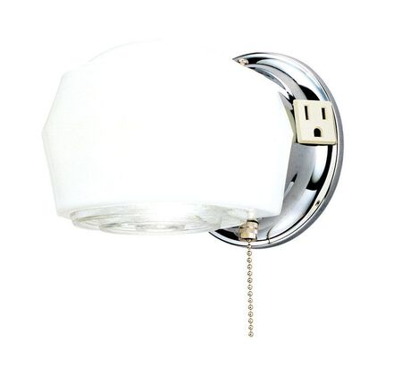 Westinghouse White Glass Wall Fixture