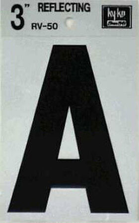 Hy-Ko Self-Adhesive Black 3 in. Reflective Vinyl Letter A
