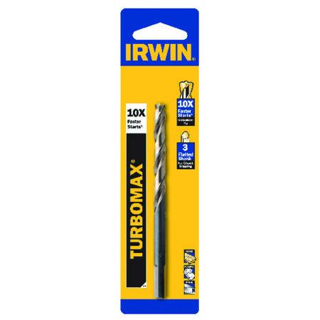 Irwin Turbomax High Speed Steel Straight 5/32 in. Dia. Drill Bit 1