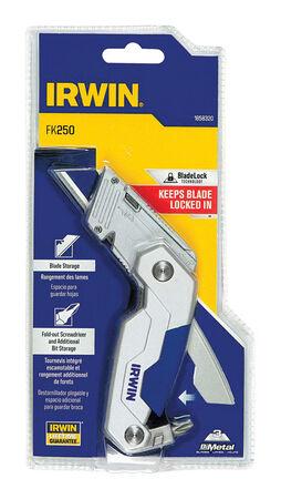 Irwin FK250 Folding 6.3 in. L Utility Knife Blue