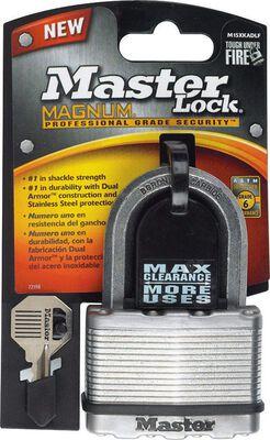Master Lock 2-1/2 in. Dual Ball Bearing Locking Steel Padlock