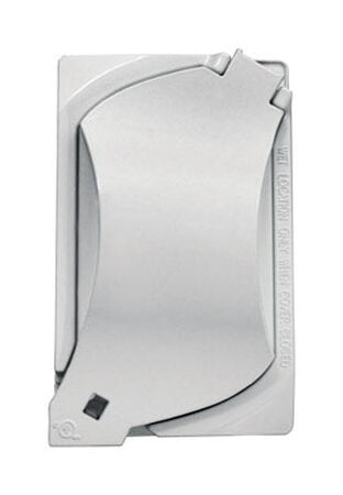 Sigma Rectangle Aluminum 1 gang Universal Cover For Wet Locations White