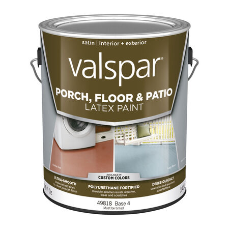 Valspar Satin Clear Base 4 Latex Porch & Patio Floor Paint 1 gal.