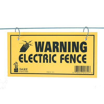 Fi-Shock Electric Electric Fence Warning Sign 3 pk