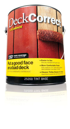 Cabot Solid Tintable Tint Base Water-Based Latex Deck Stain 1 gal.