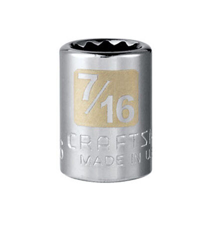 Craftsman 7/16 Alloy Steel 3/8 in. Drive in. drive Socket Standard