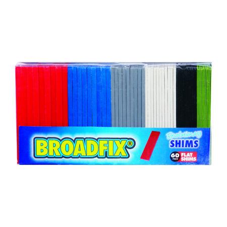 Broadfix Flat Shims 4 in. L x 1.8 in. W Plastic 60 pk
