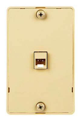 Monster Cable Just Hook It Up 1 gang Ivory Plastic Cable/Telco Telephone Line Wall Plate 1 pk