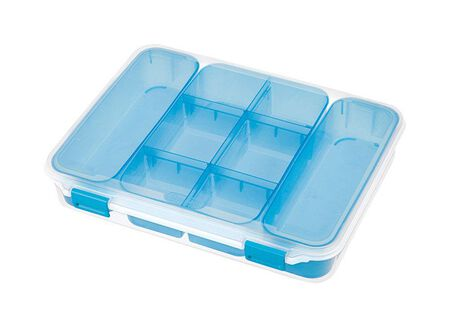 Sterilite Divided Storage Box 2.5 in. H x 10.75 in. W x 13.375 in. D