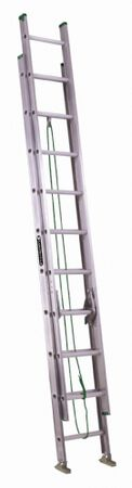 16 ft Louisville AE4216 Aluminum Extension Ladder, Type II, 225 lb Load Capacity